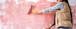 natieranie steny ružová