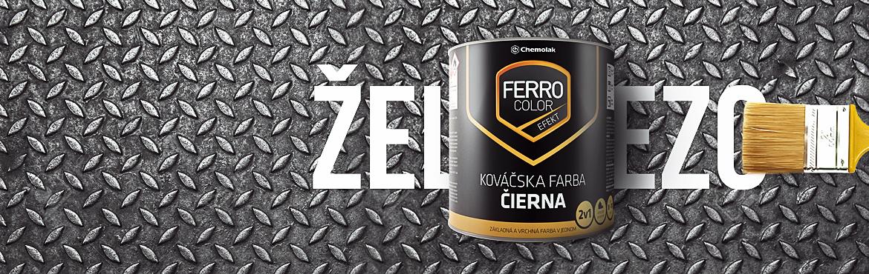 Chemolak produkt Ferro color kovacska cierna na zelezo