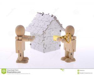 Dom z puzzle s kľúčom
