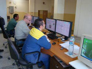 kontrola procesu výroby na počítači