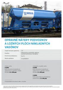 opravné nátery podvozkov a ložných plôch nákladných vagónov Chemolakom
