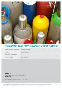 opravné nátery práškových farieb Chemolakom