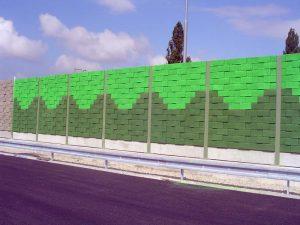 protihluková stena natretá Chemolakom