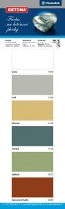 vzorkovnik farieb betona