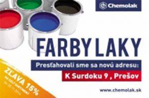 Chemolak FARBY-LAKY nova adresa