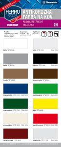 vzorkovnik farieb ferro color