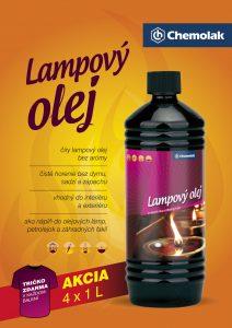 Chemolak produkt Lampovy olej akcia