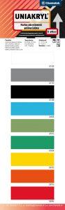 vzorkovnik farieb uniakryl