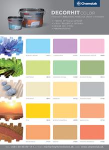 Chemolak vzorkovník Decorhit color