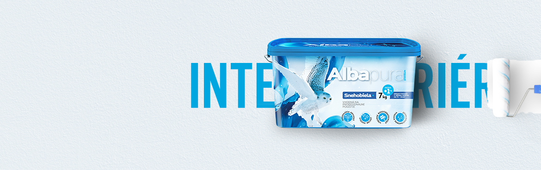 Chemolak produkt Albapura snehobiela interierova farba na steny
